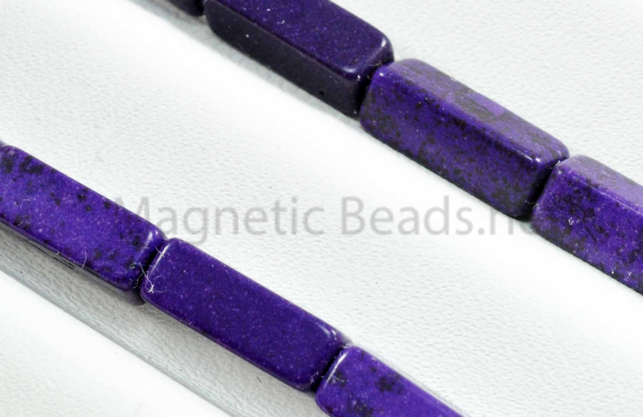 Semi-Precious Bead Rectangle 4x13m Purple Turquoise (RCT-PUR)