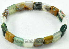 Semi-Precious-Beads Ocean Jasper 2 Hole 10x10mm Spacers (SSA-10)