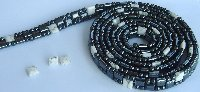"79"" Triple Strand Magnetic Black with Brown Tiger Eye, & All Bl"