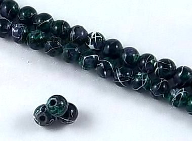 MMBG-4 4 mm Magnetic Beads Green Marbled