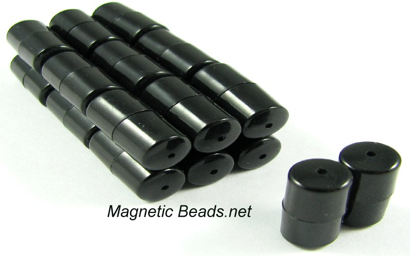 Magnetic Clasp with Black Plastic Cover 8x8mm Mag-Lok (MCBC-8)