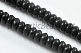 Semi-Precious Bead BlackTurquoise Roundell (BLK-Roundell)