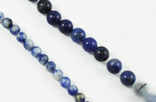Semi-Precious Beads Blue Sodalite Bead 4m or 6m (BS)