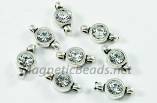 Metal Findings/Spacers Rhinestone 2 Hole Spacer (CRS-2 Hole)
