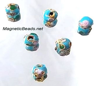 Cloisonne Accent Beads Turquoise CLB-6-TURQUOISE