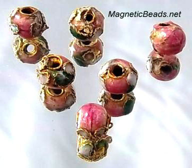 Cloisonne Accent Beads Peach CLB-6-PE