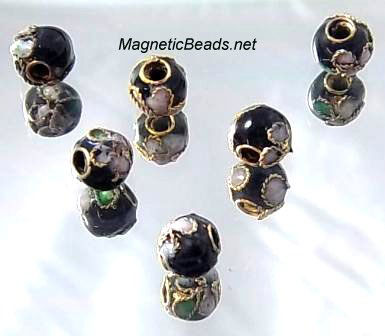 Cloisonne Accent Beads Black CLB-6-BK