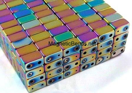Magnetic Clasp Double Rainbow 6x6x11mm (DMC-R)