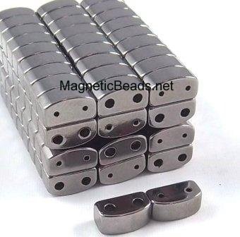 Magnetic Clasp Double Curve Grey (DMCC-6) 6x6x11 mm