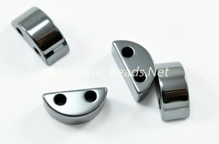 Non Magnetic Hematite 6x13mm 2 Hole Spacer (H-106)