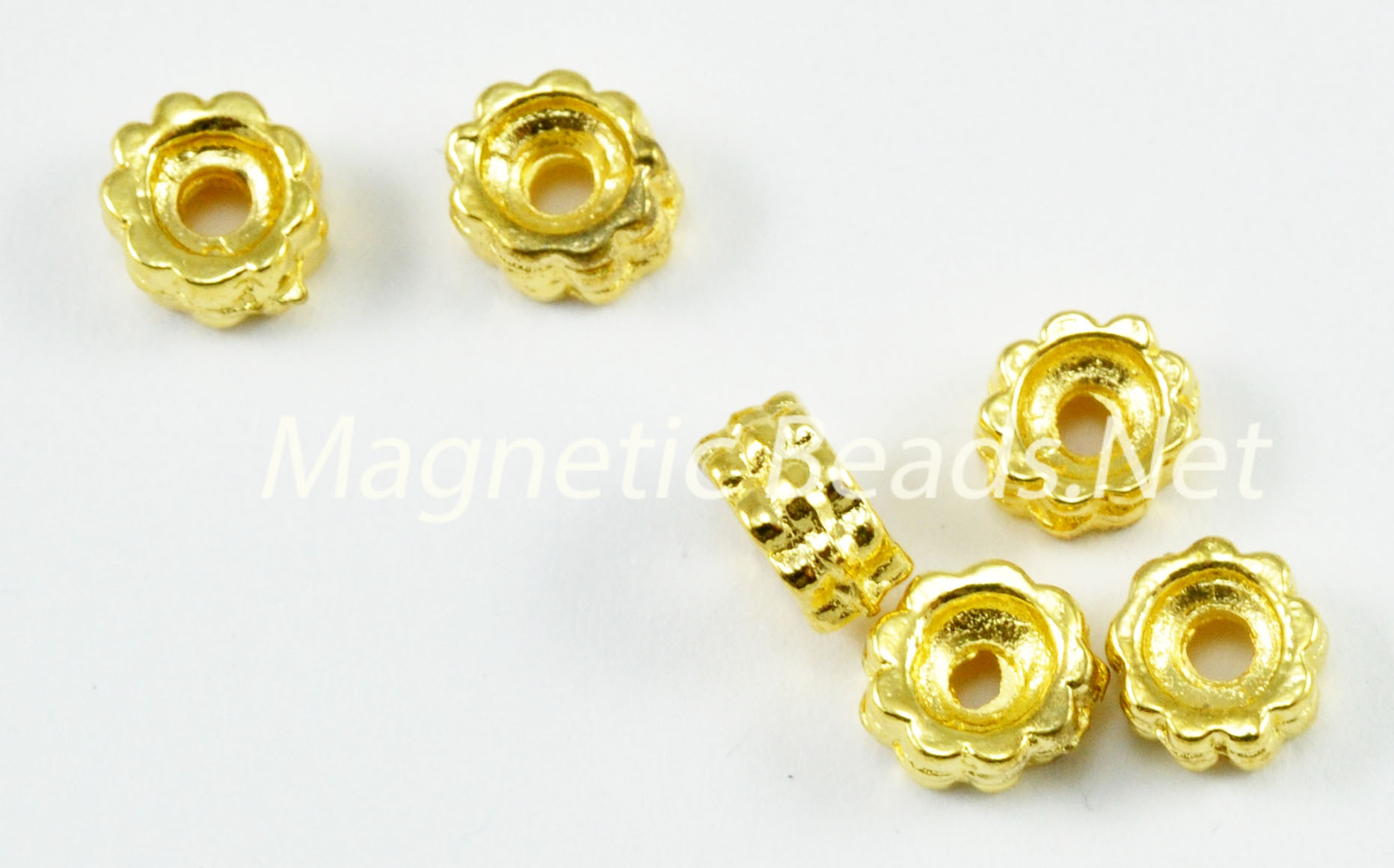 Metal Findings/Spacers 6x3M Gold Roundel Spacer(F-64)