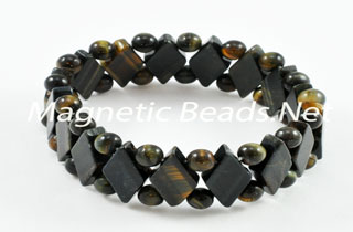 Semi-Precious Beads Blue Tiger Eye Stretch Bracelet (D-BLTE)
