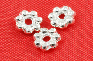Metal Finding/Spacer 5 Daisy Wheel Spacers (F-105-5-B.S.)