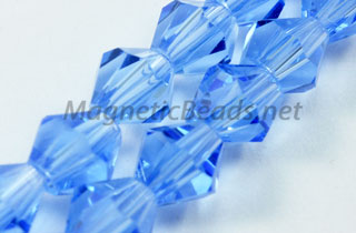 Glass Bead 6mm Bi-Cone Lite Blue (GBLB-06)