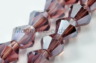 Glass Bead 6m Bi-Cone Purple AB (GBPUR-AB)