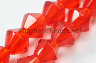 Glass Bead 6mm Bi-Cone Siam (GBSIAM-06)
