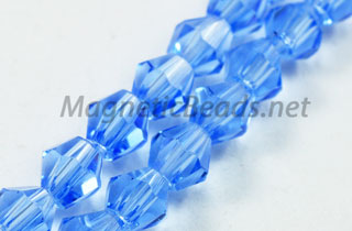 Glass Bead 4mm Bi-Cone Lite Blue (GBLB-04)