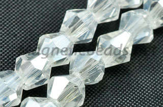 Glass Bead 4mm Bi-Cone AB (GBAB-4m)