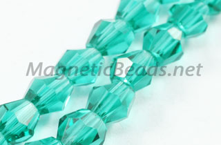 Glass Bead 4mm Bi-Cone Emerald Green (GBEG-04)