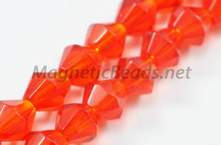 Glass Bead 4mm Bi-Cone Siam (GBSIAM-04)