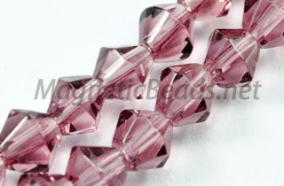 Glass Bead 4mm Bi-Cone Lite Amethyst (GBLA-04)