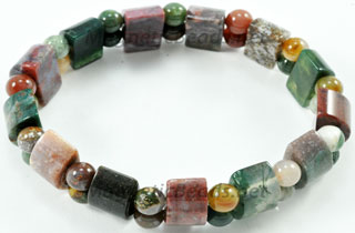 Semi-Precious Bead Fancy Jasper Stretch Bracelet (HC-FJ)