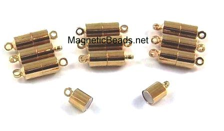 Magnetic Clasps Gold with Loops 6x6 mm (MCGL-6)