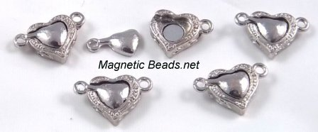 Magnetic Clasp Heart 12mm (MCH-12)