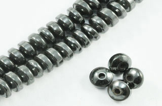 Magnetic Bead 4mm Roundel 4x2mm (M-04)