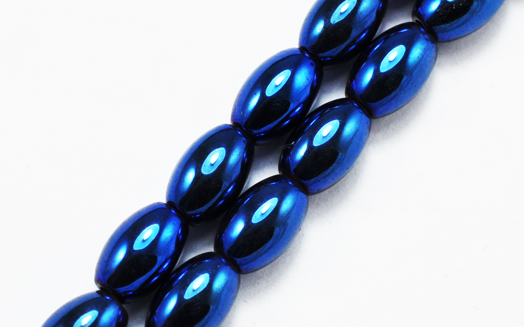Magnetic Bead 5x8mm Iridescent Blue Rice (M-502-BR)