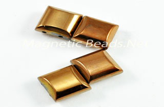 Magnetic Bead 2 Hole 10x10mm Copper Spacer (MS-10-C)