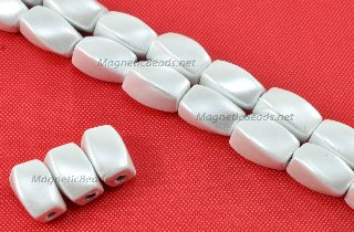 Triple Power Magnetic Beads White Pearl 4x7mm Twist (PMPW-509)