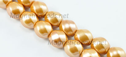 Magnetic Pearl Bead 10m 6 Faced Earth Yellow (MP-10-EY)