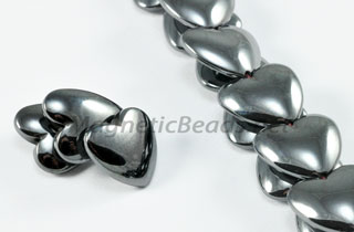 Magnetic Bead 12mm Puffed Heart Veritcal Hole (M-901)