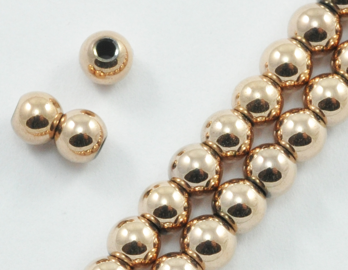 Magnetic Beads 4 mm Round Rose Gold (M-201-RG)
