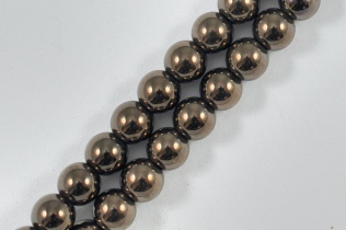 Magnetic Bead 5mm Round Dark Copper (M-205-DC)