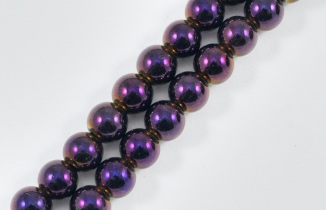 Magnetic Bead 5mm Purple Rainbow Round (M-205-PR)