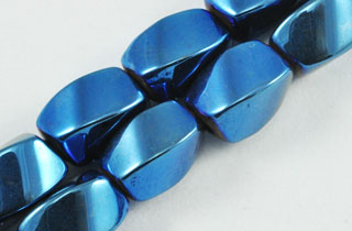 Magnetic Bead 5x8mm Blue Rainbow Twist (M-600-BR)