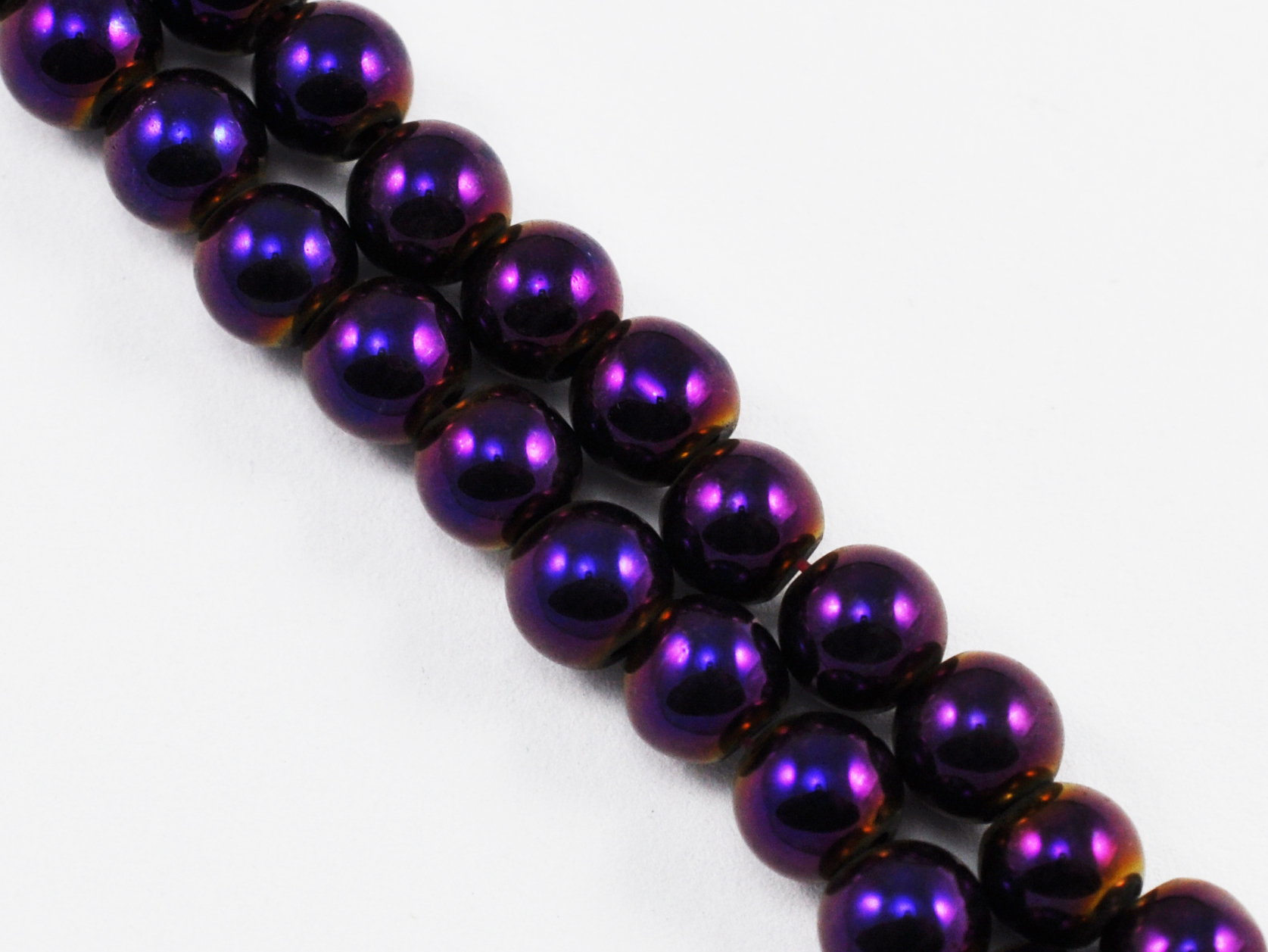 Magnetic Bead 6mm Round Purple Rainbow (M-202-PR)