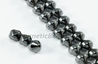 Magnetic Bead 6mm Faceted Double Cone (M-706)