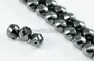 Magnetic Bead 8mm 6 Sided Swirl (M-608)