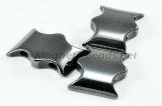 Magnetic Bead 2 Hole Batman Spacer (MBAT)