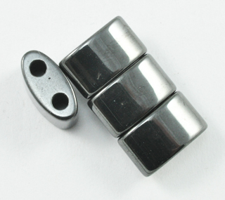Magnetic Beads 6x13mm Double Curve 2 Hole Spacer (MDC-6-2