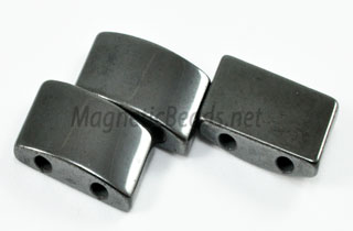 Magnetic Bead 10x20mm 2 Holed Semi Circle Spacer (MHC-107)