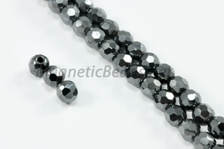 Magnetic Bead 5mm Faceted Round (M-205-F)