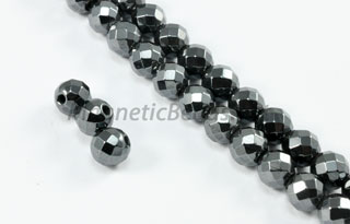 Magnetic Bead 6mm Faceted Round (M-202-F)