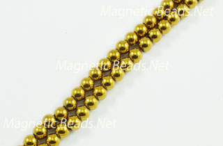 Magnetic Beads 5 mm Gold Round (M-205-G)