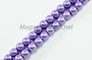 Magnetic Pearl Beads 4mm Round Purple (MPPUR-204)