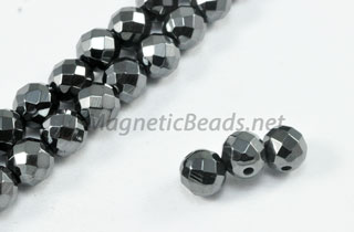 Triple Power Magnetic Bead Faceted 6mm Round (PM-202-F)