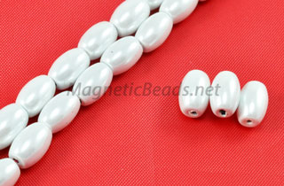Triple Power Magnetic Bead 5x8mm Rice Pearl White (PMPW-502)